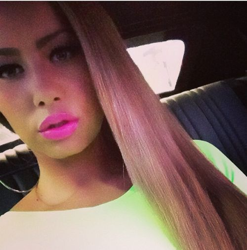 Amber Rose Spotted With Long Light Brown Hair 3