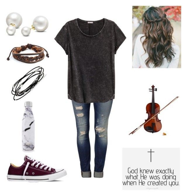 """""""Untitled #252"""" by egabest on Polyvore featuring Mavi, Converse, Rosin, Allurez, West Coast Jewelry, Kevin Jewelers and S'well"""