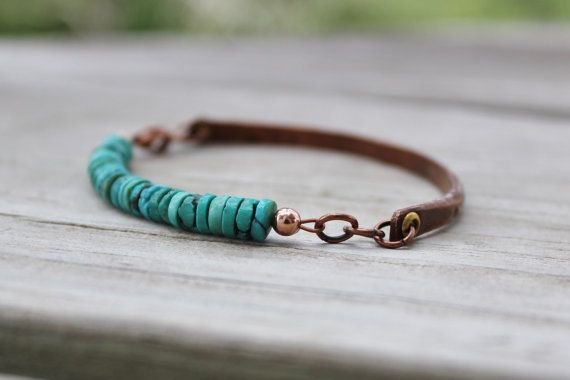 Hey, I found this really awesome Etsy listing at https://www.etsy.com/listing/151281882/rustic-turquoise-and-antiqued-copper