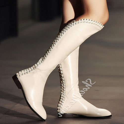 Beste Online Shoespie Zoete Vintage Prinses Knie Laarzen