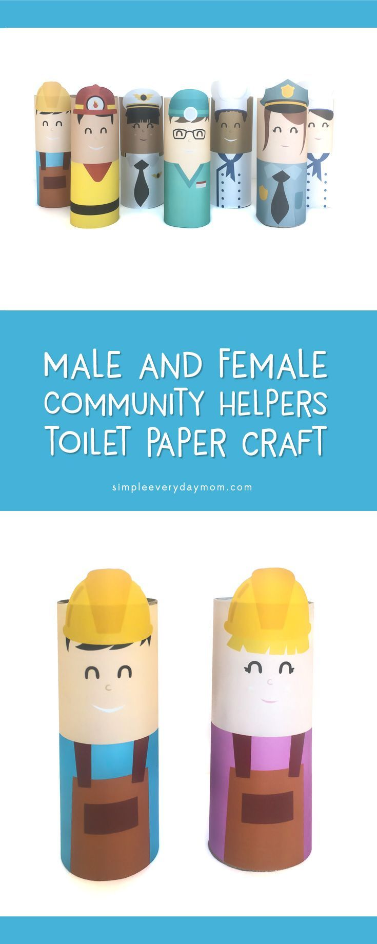 Toilet Roll Community Helpers Craft