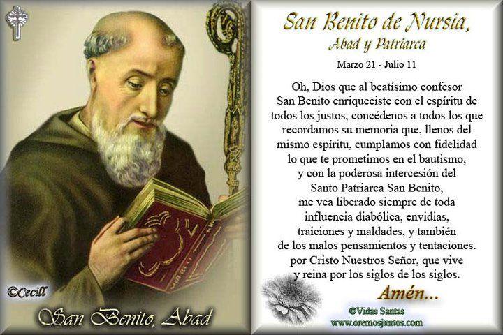 Oracion a San Benito   SANTORAL CATOLICO: Oraciones a San Benito de Nursia