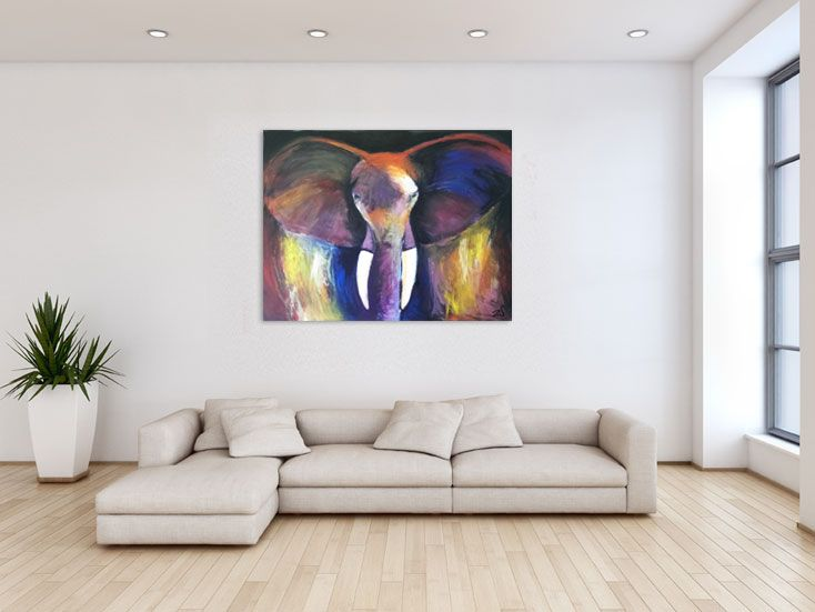 """""""The Elephant"""" - Acrylic on canvas - 100x80cm - price on request"""