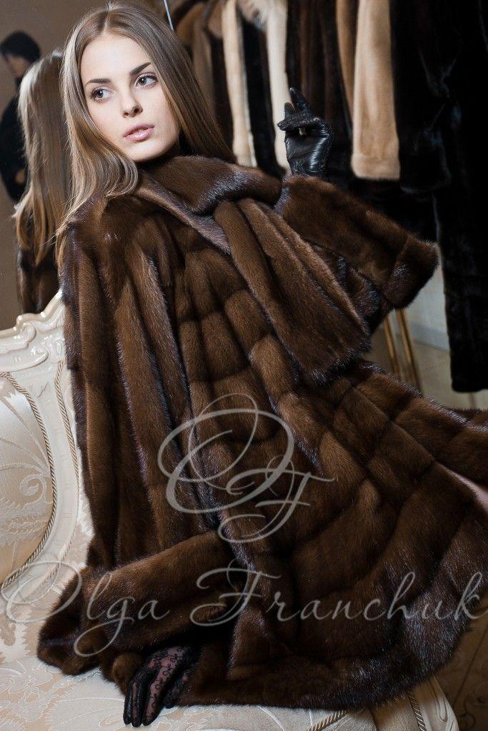Pastel-Dawn SAGA Mink Swinger coat from OLGA FRANCHUK.