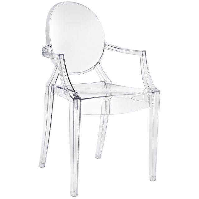 Ghost Side Chair In Transparent Crystal Contemporary