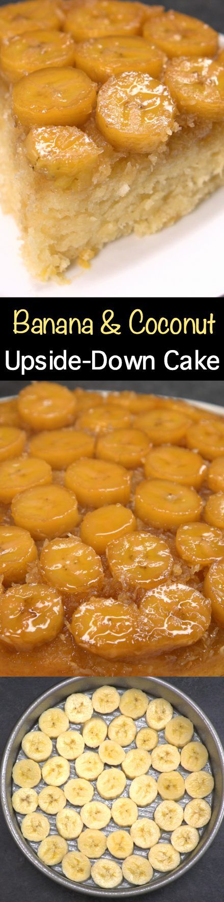 Take a trip to the tropics with this delightful Banana and Coconut Upside-Down Cake