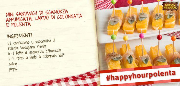 Questi sandwich di polenta sono davvero simpatici, ma soprattutto buoni! Parola di #scamorza affumicata e #lardo di #Colonnata!