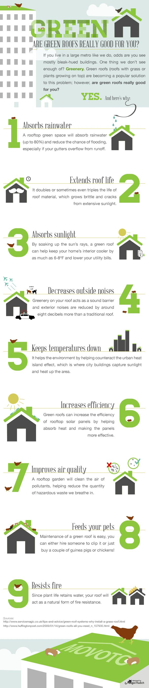 Are green roofs really good for you? #infographic #greenroof #environment – Mother Nature