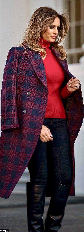 First Lady Melania Trump in Calvin Klein