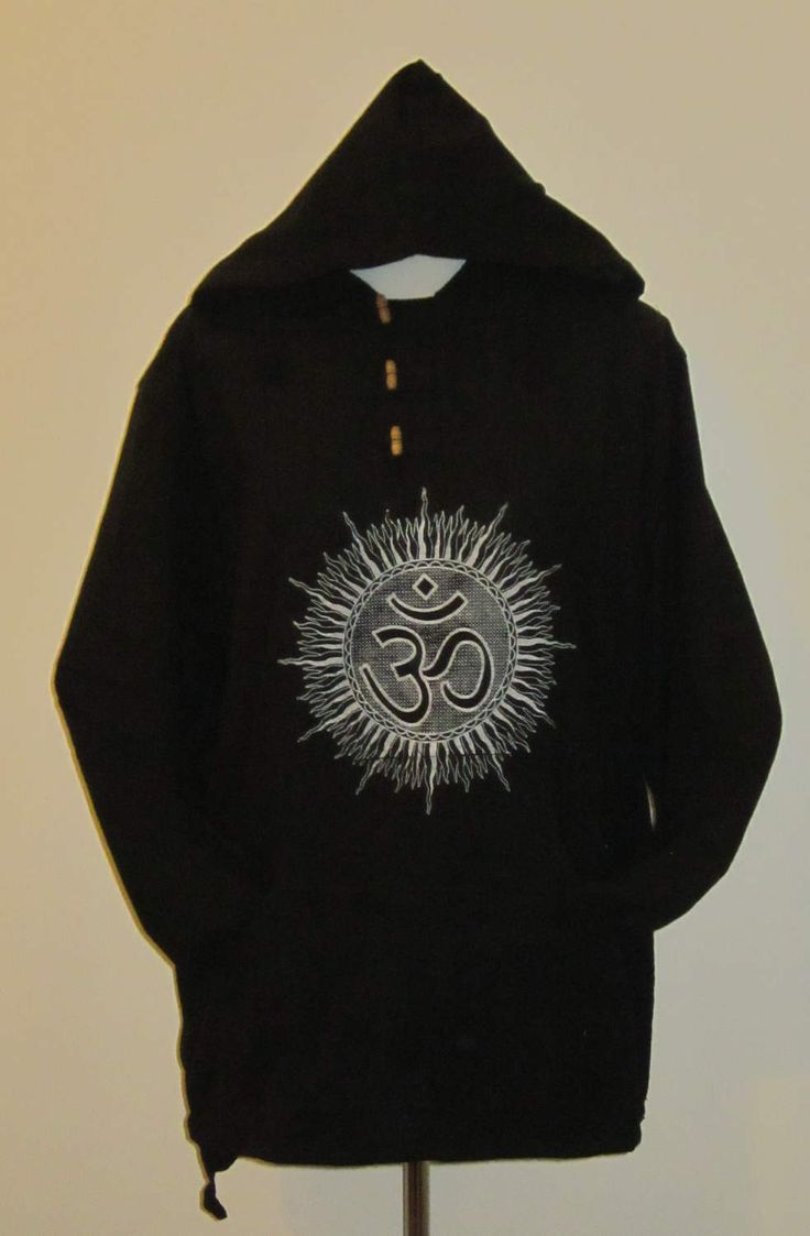 OM ~ Unisex Cotton Hooded Top! by isoleynz on Etsy