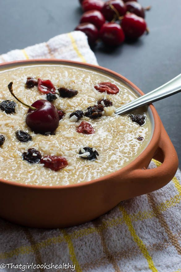 Quinoa pudding - vegan and dairy free after meal treat.