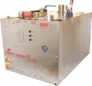"""The circulation of hot water to provide heat is known as a """"Hydronic"""" System. A closed system continually circulating the same coolant."""