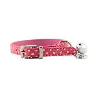 Un adorable #collier pour #chat rose à pois blancs qui apporte du #charme au cou de votre animal ! Ce collier chat pas cher existe en plusieurs couleurs sur My-Animalerie.com. Il possède également un #grelot et un #coeur orné de #strass argentés. Retrouvez tous les colliers pas chers sur notre #animalerie en ligne.  #accessoire #chien #chat #rose #cute