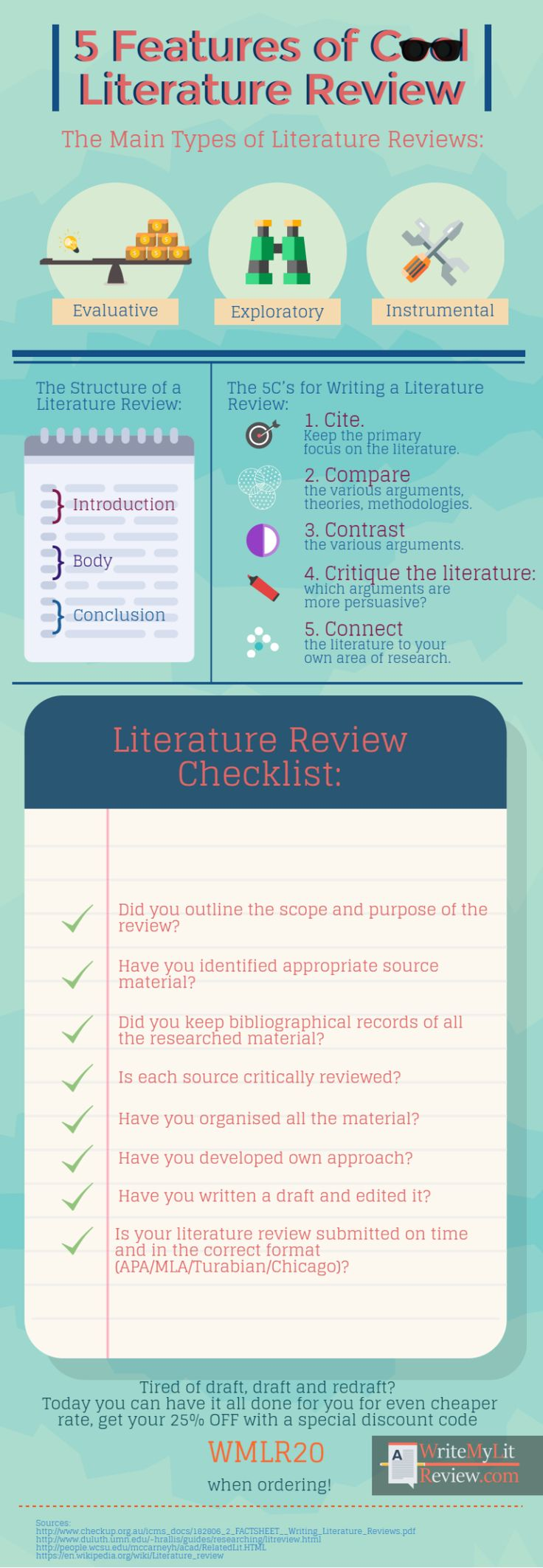 Reviewing literature can be a hard task, but it will get a lot easier after you have checked out these literature review tips http://www.writemylitreview.com/5-features-of-cool-literature-review/