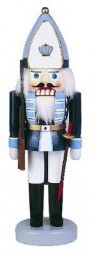 #Erzgebirge #nutcracker Prussian Grenadier 11.81 inch - Nutcracker made of wood as a Prussian grenadier in Blue White uniform with ornaments and hat, white beard, Head, face and body hand painted genuine and manufactured in the Ore Mountains.  Made in #Germany Saxonia