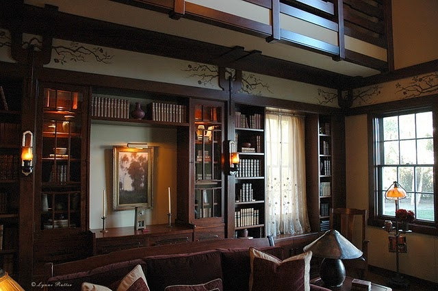 library of barbra streisand 39 s home in malibu frieze mural painted by