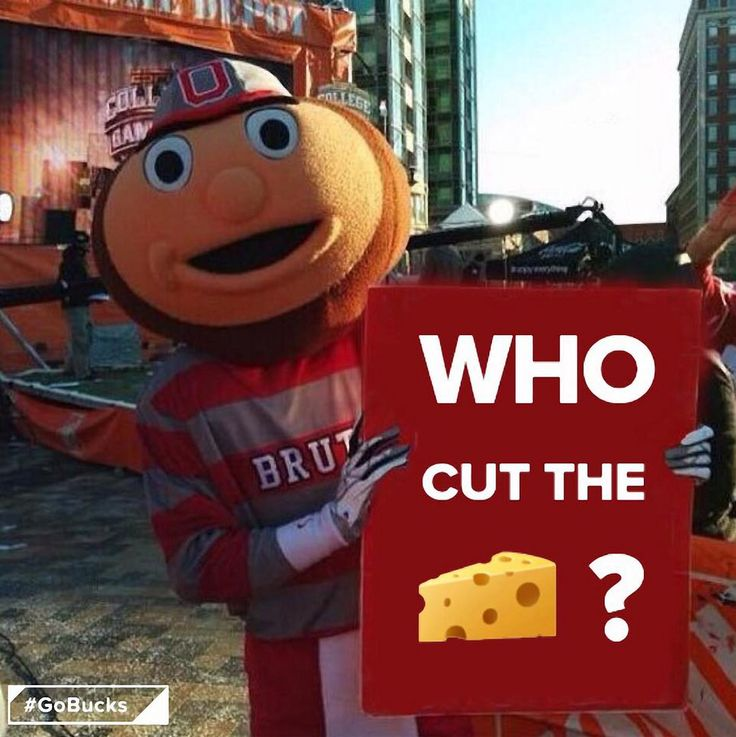 10-15-2016 GAME #6 THE VS. WISCONSIN BRUTUS BUCKEYE WHO CUT THE CHEESE
