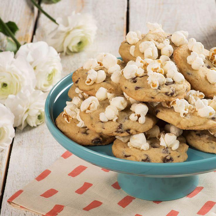 Biscuits sucré-salé au chocolat et maïs soufflé