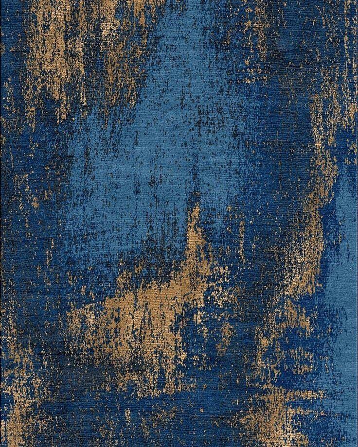 Luxury Interiordesign: Blue&gold #color #interior #colors #textile #texture
