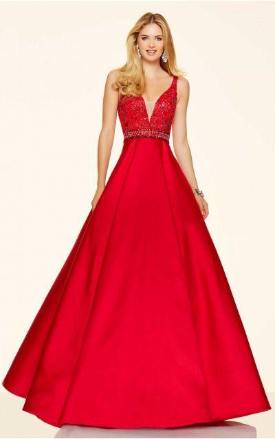 Ball Gown Shoulder Straps,V-neck Natural Sleeveless Floor-length Prom Dresses