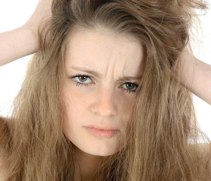 Haare sind statisch aufgeladen