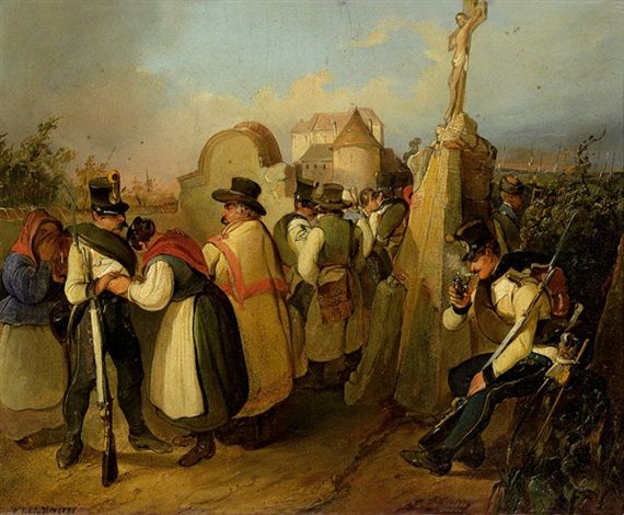 Abschied der Soldaten , 1838