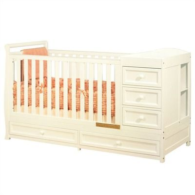 Attractive $399.00 Nursery: I LOVE This Convertable Crib With Built In Dresser And Changing  Table!