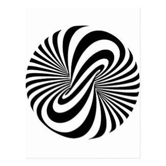 Espiral de la ilusión óptica 3D Postal