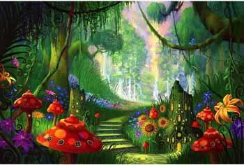 Fairy Tale Land Wallpaper Mural Wallpaper Amp Border