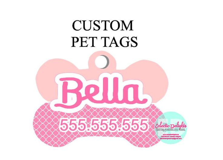 A personal favorite from my Etsy shop https://www.etsy.com/ca/listing/472174809/custom-dog-tag-personalized-pet-tag-pet