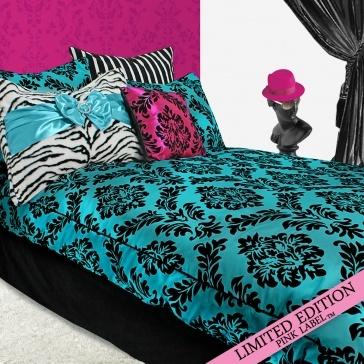 94 best zebra print images on pinterest zebras zebra for Blue zebra print bedroom ideas