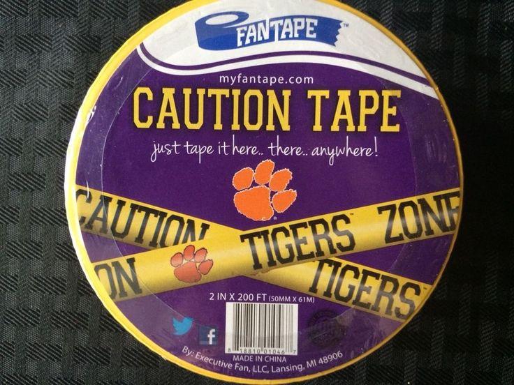 Clemson Tigers Caution Tape party tailgate basketball football team spirit NIP  | eBay