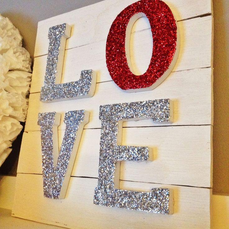 LOVE Glitter Sign #yearofcelebrations