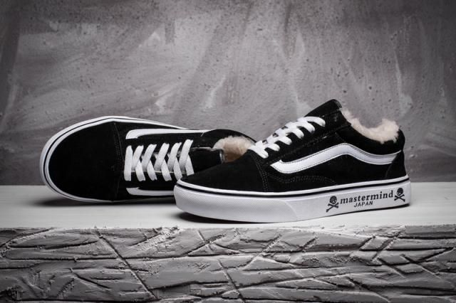 5b10cbbff5 Vans Mastermind Japan x Vans OS Plus Velvet Suede Old Skool Classic Black  Womens True-White Shoes  Vans