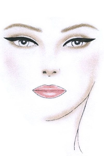 36 Best Images About Face Chart On Pinterest Watercolor