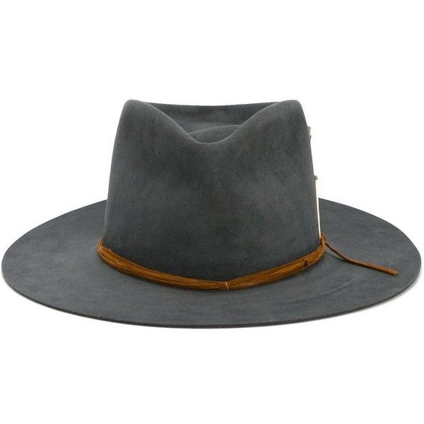 Nick Fouquet Nick Fouquet 'Seminole Dancer' Hat ($1,385) ❤ liked on Polyvore featuring men's fashion, men's accessories, men's hats, grey and mens felt hat
