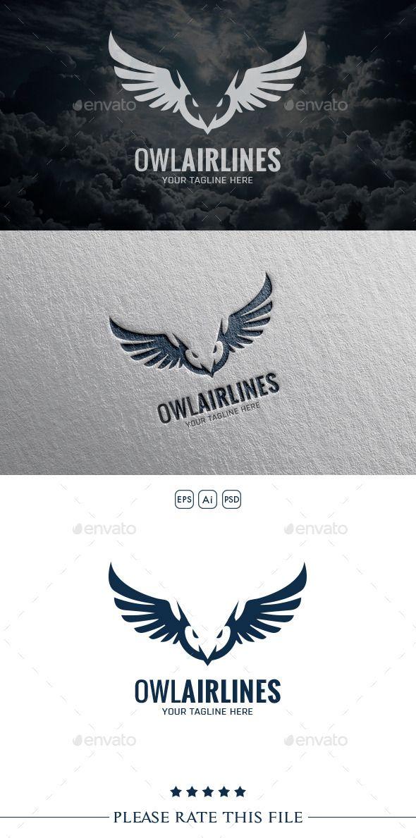 Owl  Logo Design Template Vector #logotype Download it here: http://graphicriver.net/item/owl-logo/10556460?s_rank=1322?ref=nexion