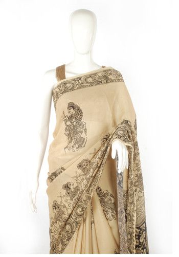 Printed Kalamkari Saree – Desically Ethnic