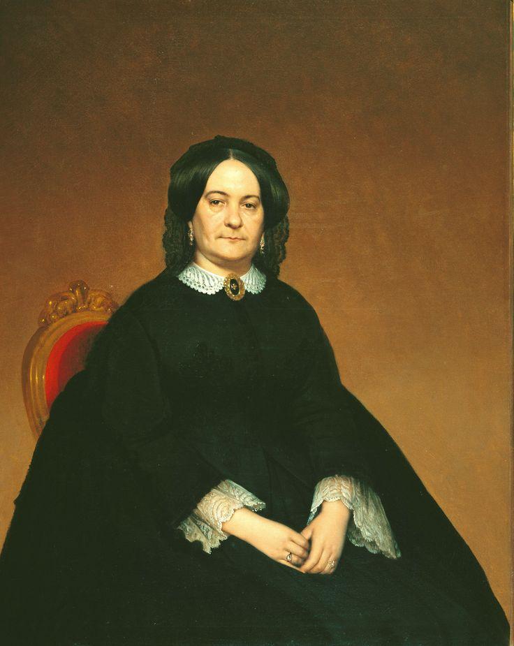 Retrato de Clara Lozano de Ocampo. Artista: Prilidiano Pueyrredón. Fecha: c.1860.