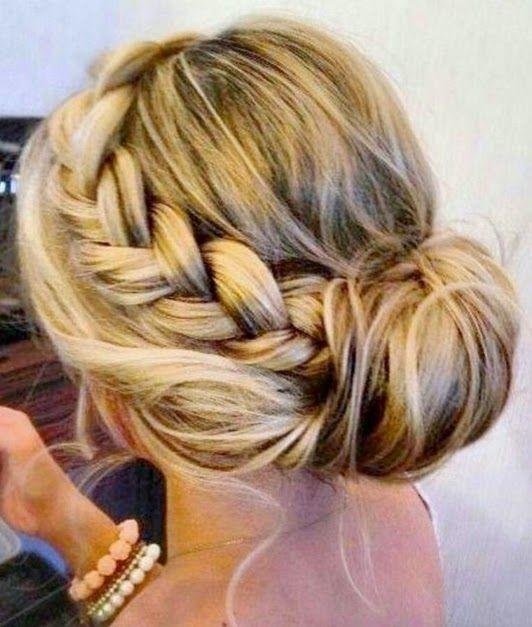Geflochtene Haarknoten Frisuren