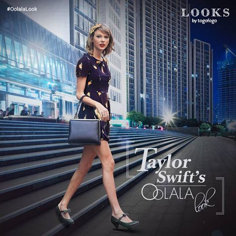 Taylor had us going #oolala when she was spotted on the streets in a #mesmerizing #blue dress with #floral prints.