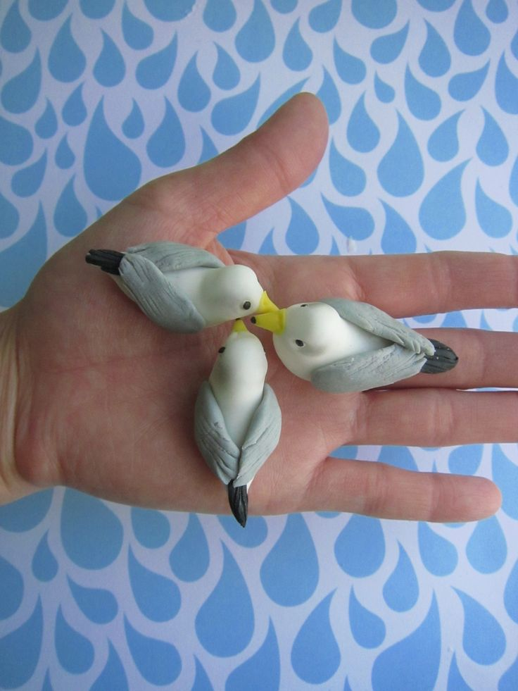 Seagulls Cupcake Toppers by mimicafe Union http://web.me.com/mimicafeunion