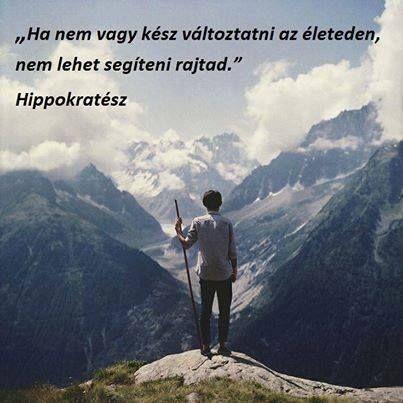 Hippokratész idézete a változásról. A kép forrása: Csikung útja # Facebook