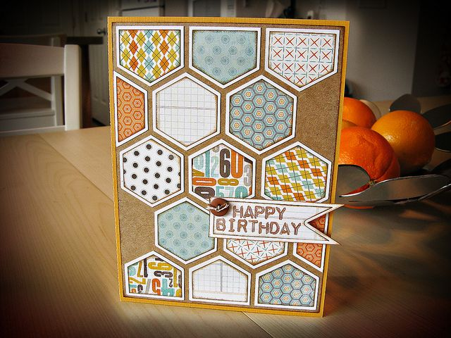 Husband's Hexagons Card by jennecy, via Flickr