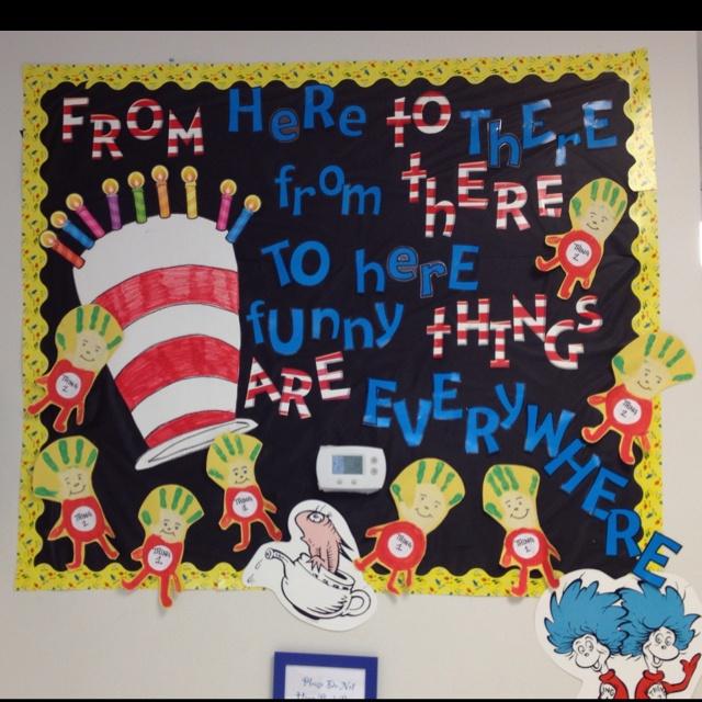 Elementary Classroom Themes ~ Happy birthday dr seuss bulletin board your ideas