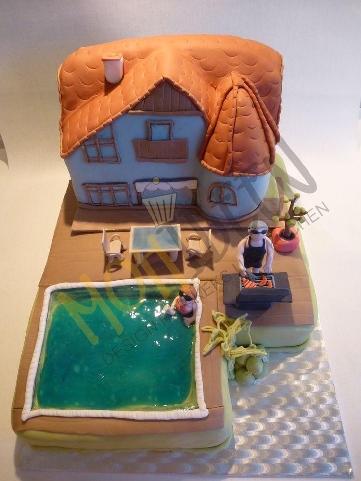 Das eigene Haus als Torte