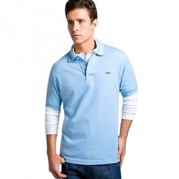 Men Polo Shirt Short Sleeve, Light Sky Blue