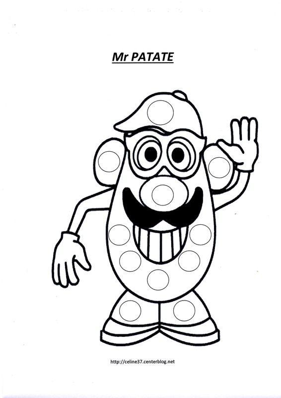 Les 39 meilleures images du tableau dessin gommette sur - Mr patate dessin ...