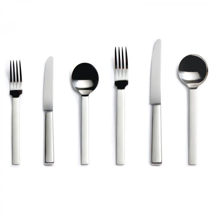 Odeon Six-piece Cutlery Place Setting - David Mellor Design #flatware #davidmellor #cutlery