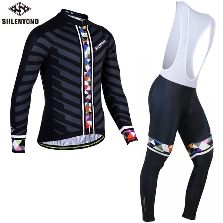 SIILENYOND Mischa Long Sleeve Pro Cycling Jerseys Set Men MTB Clothing Bicycle Maillot Ropa Ciclismo Sportswear Bike Clothes Set #Affiliate